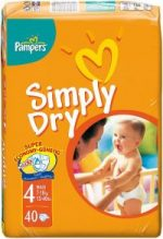 Pampers Simply Dry luiers